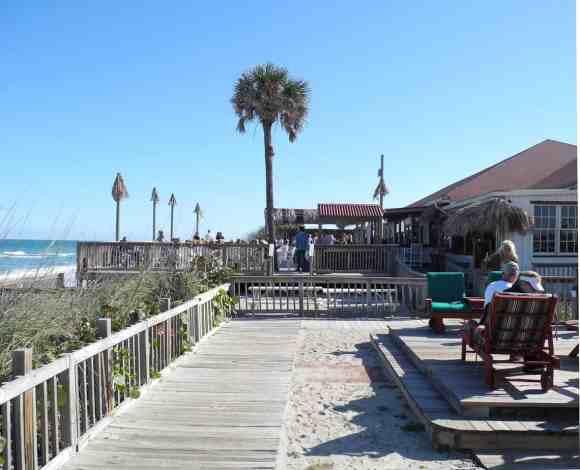 Outside deck at the Sebastian Beach Inn