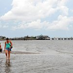 Cedar Key sand spit by Kellie Parkin