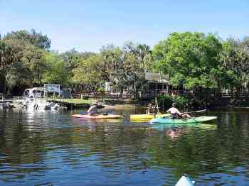 Paddling past the Snook Haven on the Myakka River