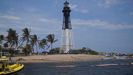 Hillsboro Lighthouse seen from Inlet