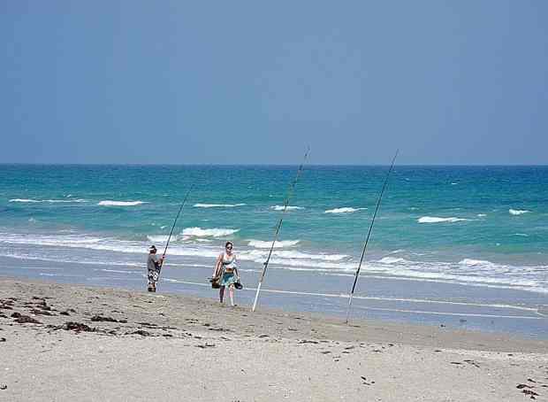 Surf fishing is popular on Hutchinson Island