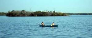 Canoe at Biscayne National Park