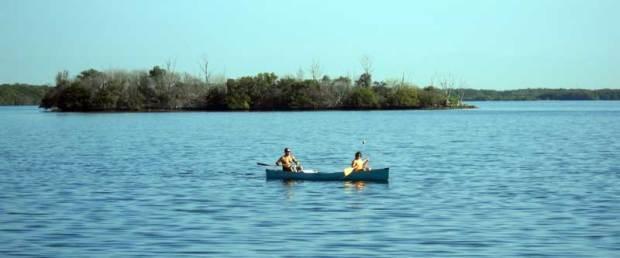 Canoe at Biscayne National Park