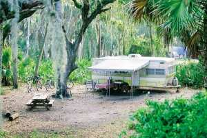 Campsite at Myakka River State Park