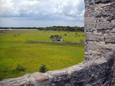 Open land surrounding Fort Matanzas near St. Augustine