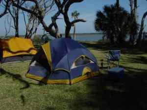 Camping at Princess Place, Palm Coast, Florida