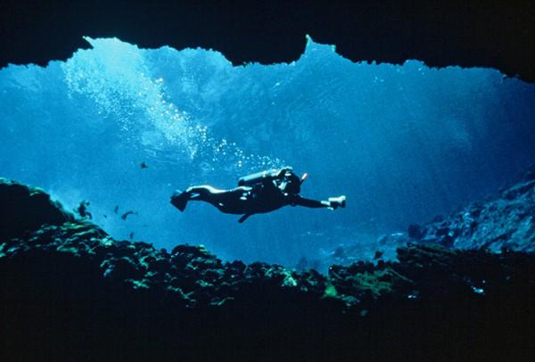 Scuba diver at Florida Springs State Park