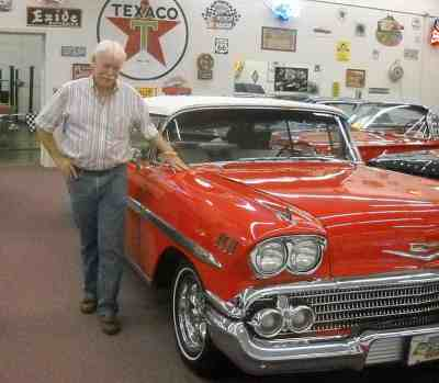 Rick Treworgy at his Punta Gorda Muscle Car City Museum