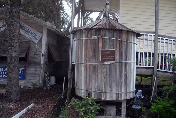 Historic cistern at Grande Tours Kayak Center, Placida, Florida