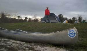 Campsite on Peace River, Florida