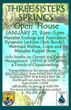 Three Sisters Spring Open House flyer