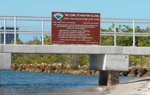 Dock on Munyon Island, MacArthur Beach State Park
