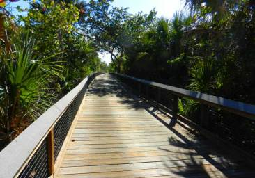 Boardwalk at St. Lucie Inlet Preserve State Park leads to hidden beach