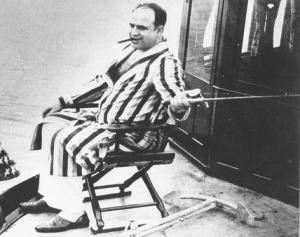 Al Capone fishes off Palm Island in Miami
