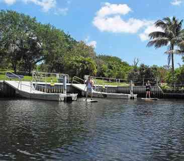 The docks at Deerfield Island Park