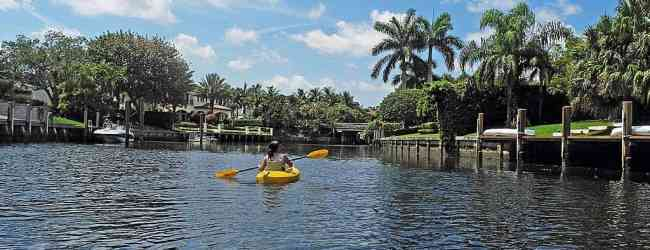 A leisurely paddle through the Royal Palm Yacht and Country Club