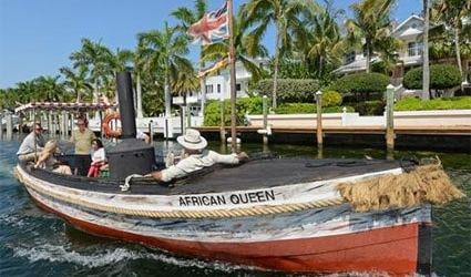 The African Queen is the original vessel from director John Huston's classic 1951 film by the same name. Photos by Andy Newman/Florida Keys News Bureau