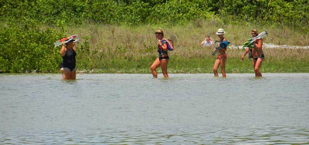 Wading to Tigertail Beach on Marco Island