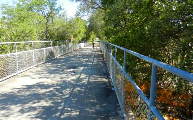 A bridge over the Pinellas Trail