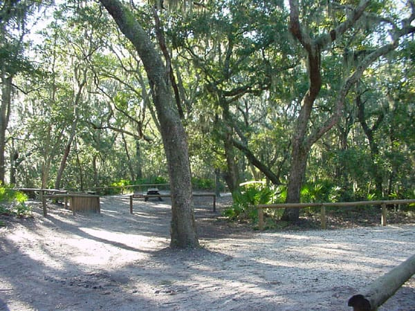 Campsite at Fort Clinch State Park