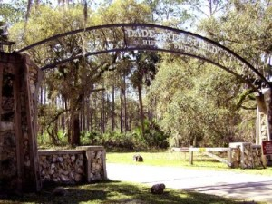 Entrance to Dade Battlefield Historic State Park