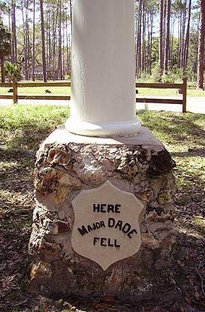 Dade Battlefield marker