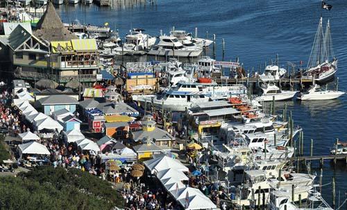 Destin Seafood Festival held in Destin Harbor and the Harbor Boardwalk