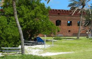 Campsite at Fort Jefferson