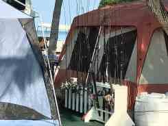 Serious fishing campers at Big Pine Key Fishing Lodge