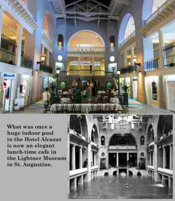 Café Alcazar inside the Lightner Museum in St. Augustine. The space was originally the largest indoor swimming pool in the world.
