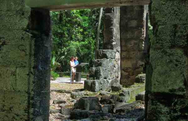 Excellent signage tells the story of Bulow Plantation Ruins Historic State Park in Flagler County.