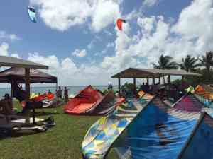 kite-boarding at Curry Hammock State Park near Marathon in the Florida Keys