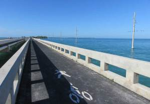 The start of Tom's Harbor Channel Historic Bridge (MM 61) on the Florida Keys Overseas Heritage Trail.