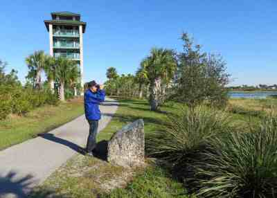 Wellington Environmental Center has a six-story tower and three miles of walking trails.