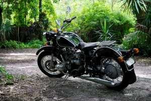 motorcycle at florida campground