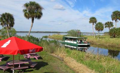 The airboat at Myakka River State Park takes visitors on a one-hour tour.