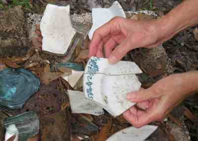 Artifacts gathered at the site of Bertha Palmer's old ranch inside Myakka River State Park.