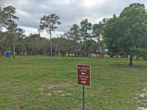 rv campground at Dupuis Wildlife Management Area
