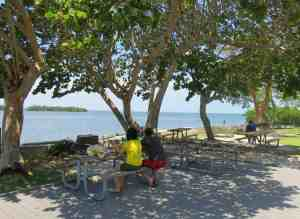 The picnic sites are shaded with a great view at Biscayne National Park in Homestead. (Photo: Bonnie Gross)
