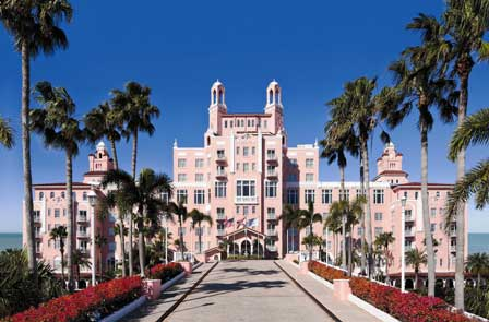The Don CeSar Hotel entrance in St. Pete Beach.