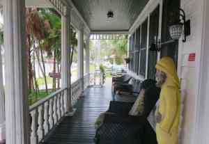 The porch at the Everglades Rod and Gun Club. (Photo: Bonnie Gross)