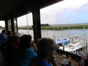 The view at Up the Creek Raw Bar, Apalachicola.