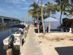 Large tents and RVs filled up the canal sites.