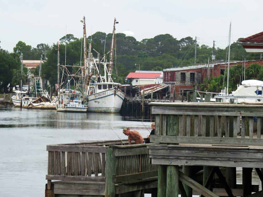 Carabelle is a historic fishing town with 3,000 residents and an attractive riverwalk along the Carabelle River. (Photo: Bonnie Gross)