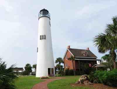You can climb the lighthouse on St. George Island. (Photo: Bonnie Gross)
