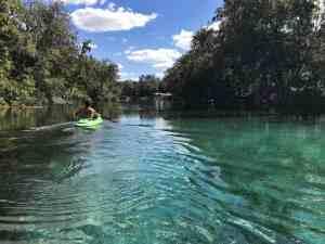Kayaking the Rainbow River. (Photo: Bonnie Gross)