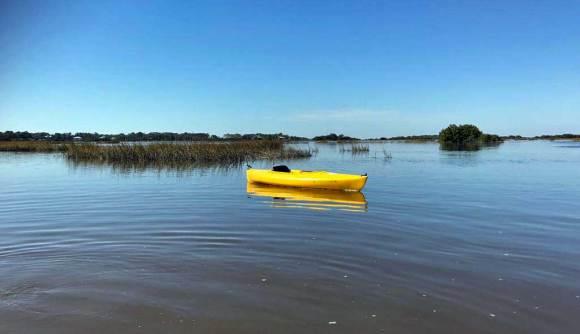 lonely kayak at cedar key
