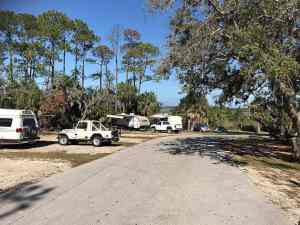 Shell Mound Campground at Cedar Key