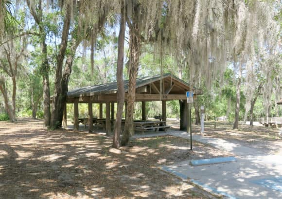 Day-use picnic shelter at Alderman's Ford Park.
