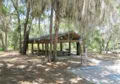 Day-use picnic shelter at Alderman's Ford Park.